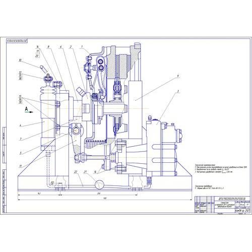 Дипломная работа на тему Разработка агрегатного участка и стенда  Дипломная работа на тему Разработка агрегатного участка и стенда для испытания пневмогидроусилителя сцепления