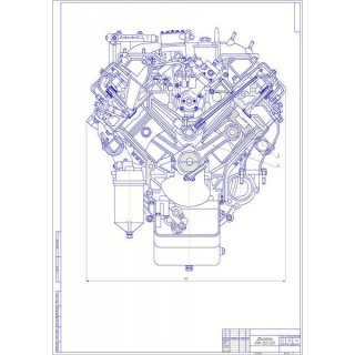 """Дипломная работа на тему: """"Модернизация дизельного двигателя для грузового автомобиля КамАЗ рабочим объёмом 10-11 л путём применения турбонадува"""""""