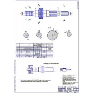 Дипломная работа на тему: Восстановление вторичного вала КПП автомобиля КамАЗ-5320 с годовой программой 5000 капитальных ремонтов в год
