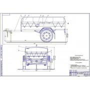 Торсионная подвеска прицепа для легковых автомобилей «Сармат-8232» по упругим характеристикам аналогичной пружинной подвески этого прицепа