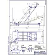 Подкатная домкратная тележка для снятия и установки агрегатов