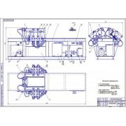 Стенд для проверки системы охлаждения блока цилиндров на герметичность