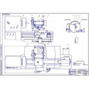 Установка для анодно-механического шлифования к токарному станку 1К62