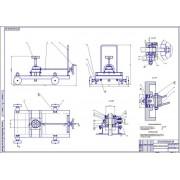 Разработка подкатной тележки домкрата