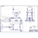 Тележка для снятия и установки редуктора моста автомобиля