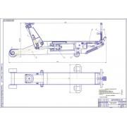 Проект технологического дооснащения базы централизованного ТО автомобилей с разработкой конструкции домкрата подкатного