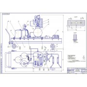 Проектирование установки для пневмомеханической очистки колес для обслуживания грузовых автомобилей на строительных площадках в зимних условиях