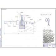Четырёхтактный двигатель внутреннего сгорания с одним цилиндром, работающий по схеме вращающийся цилиндр-клапан