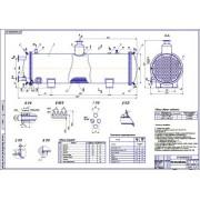 Проект теплового насоса для отопления и горячего водоснабжения с использованием тепла масла стенда ожижения природного газа и реконденсации метана