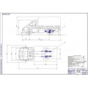 Задняя пневмоподвеска на автомобиль ГАЗ-3302