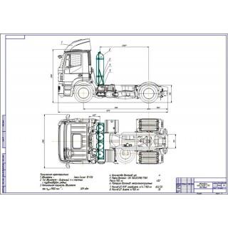 Дипломная работа на тему: Проект модернизации системы питания автомобиля Iveco N440S для работы на компримированном природном газе