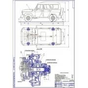 Улучшение эксплуатационных свойств УАЗ-3151 с редукторными мостами путем установки электромагнитных муфт подключением передних колес