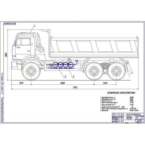 Дипломная работа на тему Модернизация системы питания автомобиля  Дипломная работа на тему Модернизация системы питания автомобиля КамАЗ 6520 60 для работы на компримированном природном газе