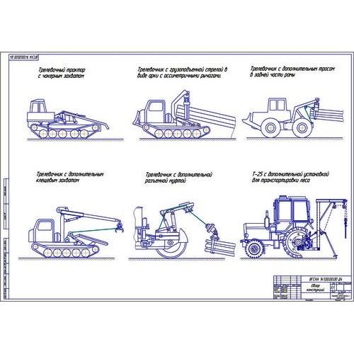 работа на тему Модернизация трактора Т К в погрузочно  Дипломная работа на тему Модернизация трактора Т 150К в погрузочно транспортное средство для погрузки и перевозки кряжеванного
