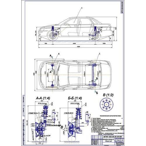 Дипломная работа на тему Модернизированная подвеска ВАЗ