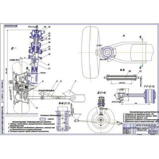 Дипломная работа на тему Передняя подвеска на составных пружинах М1