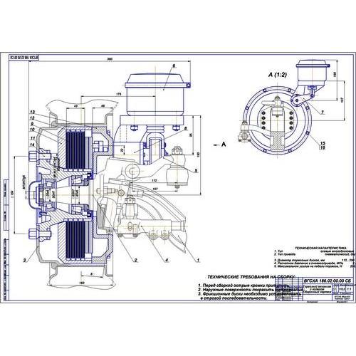 работа на тему Передние дисковые тормоза автобуса ПАЗ  Дипломная работа на тему Передние дисковые тормоза автобуса ПАЗ 3205