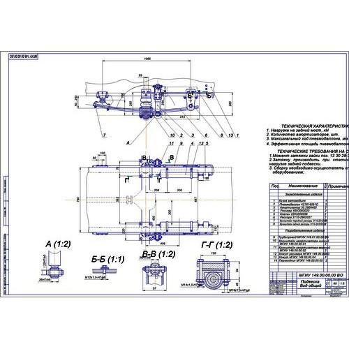 Дипломная работа на тему Задняя электронно регулируемая подвеска М