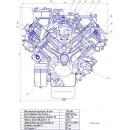 Поперечный разрез двигателя КамАЗ-740