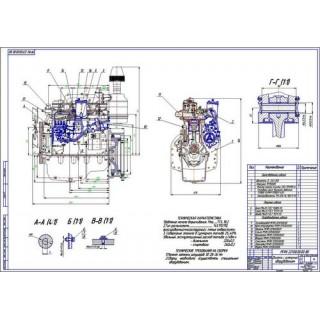 Двигатель Д-243 с оборудованием с переводом на метил