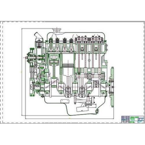 Чертеж Поперечного Разреза Двигателя Змз 5311