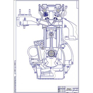 Двигатель ЗМЗ-406, поперечный разрез