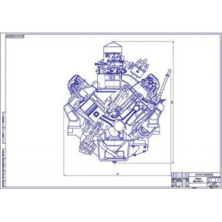 Двигатель ЗМЗ-5234, поперечный разрез