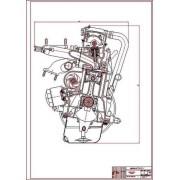 Двигатель ВАЗ-2108, поперечный разрез