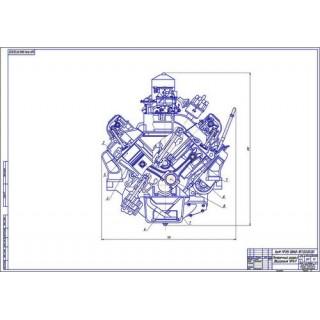 Двигатель Урал, поперечный разрез