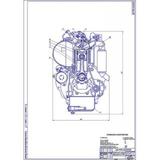 Двигатель Д-120, поперечный разрез
