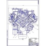 Двигатель КамАЗ-740.10, поперечный разрез