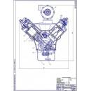 Двигатель СМД-62, поперечный разрез