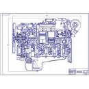 Двигатель ЯМЗ-238, продольный разрез