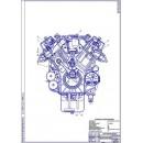 Двигатель ЯМЗ-240, поперечный разрез