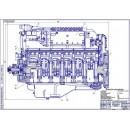 Двигатель ЯМЗ-240, продольный разрез