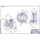Задний тормозной механизм КамАЗ модернизированный