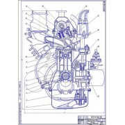 Двигатель ВАЗ-2101, 2103, 2106, Поперечный разрез