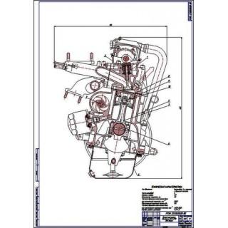Двигатель ВАЗ-2110, поперечный разрез