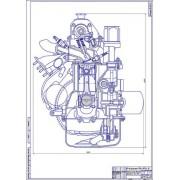 Двигатель ВАЗ-21065, поперечный разрез