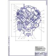 Двигатель ЗиЛ-645, поперечный разрез