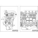 Двигатель ЗМЗ 16-клапанный, поперечный и продольный разрезы