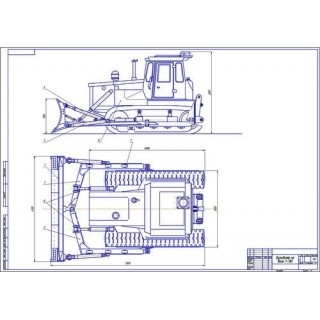 Бульдозер Т-130 общий вид