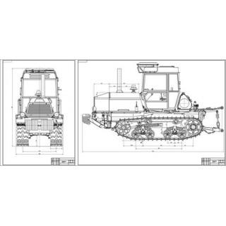 Трактор Т-150 общий вид