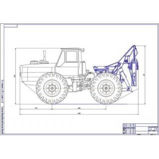 Трактор ЛТ-157 общий вид
