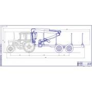 Трактор МТЗ-82 с манипулятором общий вид