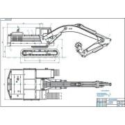 Экскаватор ЭО-4125 с фрезой