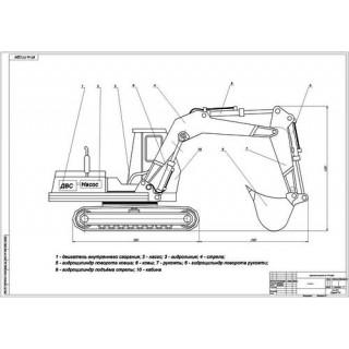 Экскаватор ЭО-4121 общий вид