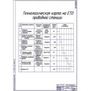 Технологическая карта ТО приводной станции