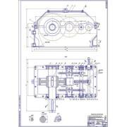 Редуктор цилиндрический 3-х ступенчатый по развёрнутой схеме