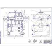 Редуктор цилиндрический 2-х ступенчатый соосный вертикальный